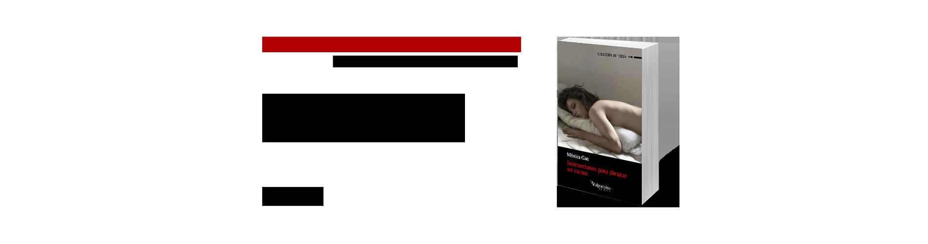 Instrucciones para abrazar un cactus, nuevo libro de Mónica Gae