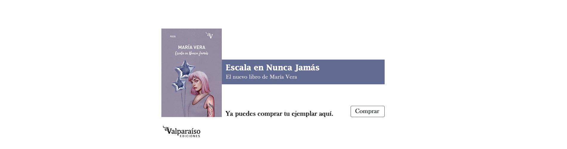 Escala en Nunca Jamás, el nuevo libro de María Vera, ya puedes comprar tu ejemplar aquí.